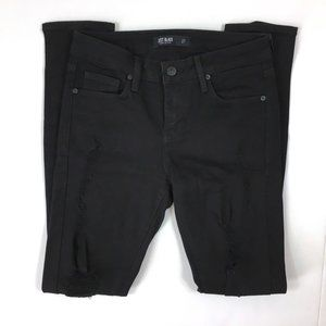 Just Black Mid Rise Destroyed Skinny Jeans sz 27